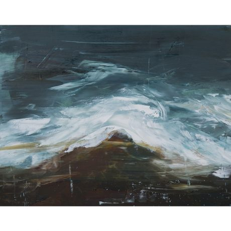O.S. X Emma Fineman Abstract Ocean Painting The Great Highway Outer Sunset San Francisco