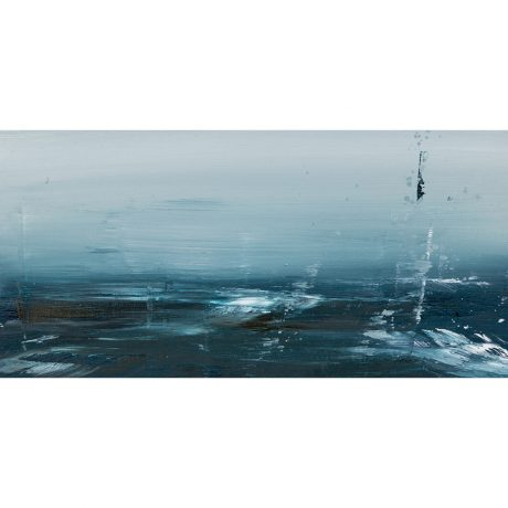 O.S. XXI Emma Fineman Abstract Ocean Painting The Great Highway Outer Sunset San Francisco