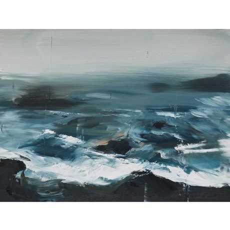 O.S. XV Emma Fineman Abstract Ocean Painting The Great Highway Outer Sunset San Francisco